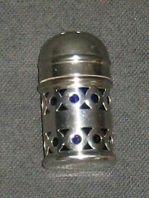 Pepper Pot - Silver plated with blue glass liner