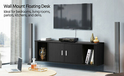 Wall Mounted Tv Media Console For Living Room Floating Hutch