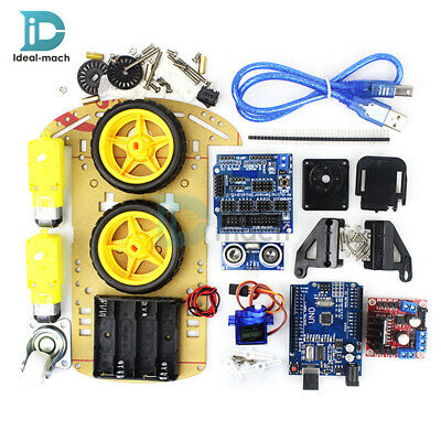 Smart Car Tracking Motor Smart Robot Chassis Kit 2WD Ultrasonic for Arduino UNO