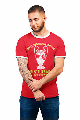 Allez Conquered Europe Liverpool Football TShirt Mens Kids Baby Champions League