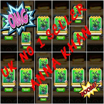 100x Martian Lettuce Combo:- Coin Master Cards ( Fastest Delivery)