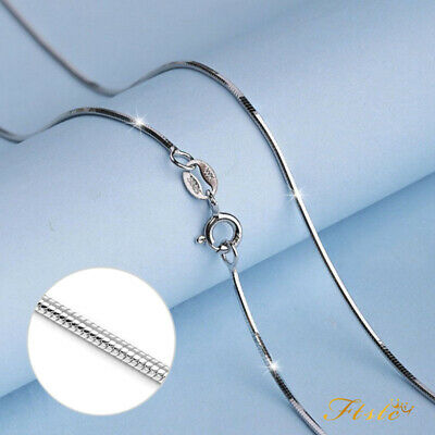Genuine Solid 925 Sterling Silver Snake Chain Necklace UK Seller