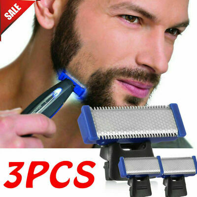 3Pcs Men Micro Solo Electric Razor Double-Sided Blade Head Shaver Replacement