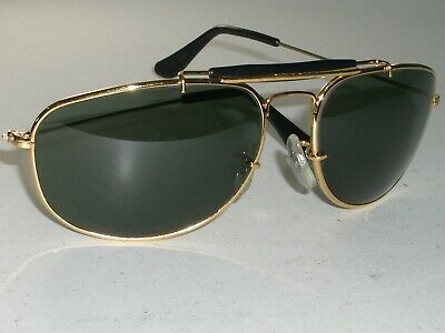 44138d8732 Vintage B&L Ray-Ban Gold/Black Combo Olympic Games Wrap Mask Aviator  Sunglasses