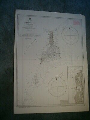 Vintage Admiralty Chart 1441 WEST INDIES - TURKS ISLANDS 1898 edn