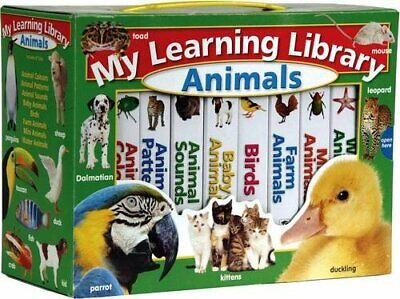 Learning Library: Animals by Hinkler Books Hardback Book The Cheap Fast Free