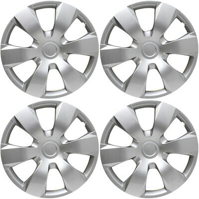 """4 PC Hubcaps Fits 07-11 Toyota Camry 16"""" Silver Replacement Wheel Skin Cover"""