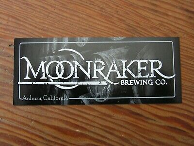 Moonraker Brewing Co. Sticker ~NEW! Craft Beer Brew Logo Brewery Decal~