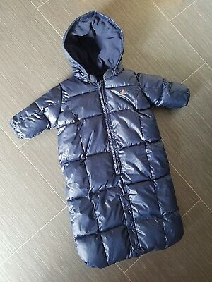 Baby GAP Navy Blue Quilted Snowsuit/Pramsuit 0-3 Months Coat Hooded