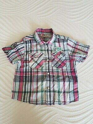 Marks And Spencer Indigo Collection Boys Short Sleeved Shirt. 3-4 Years