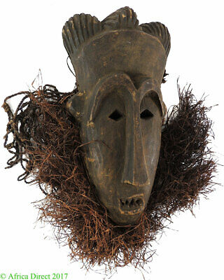 Ogowe River Bearded Mask Gabon African Art SALE WAS $165.00