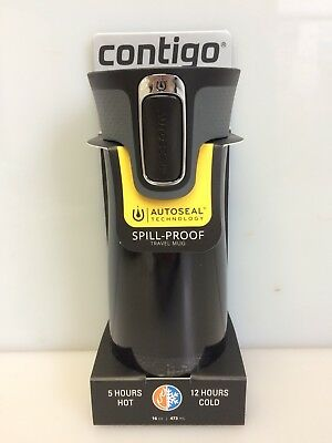 Contigo AUTOSEAL West Loop 2.0 Vacuum Insulated Stainless Travel Mug 16 oz Black