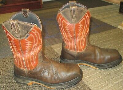 31796089119 MENS ARIAT WORKHOG XT Dare Composite Toe Leather Work Boots sz 10 EE