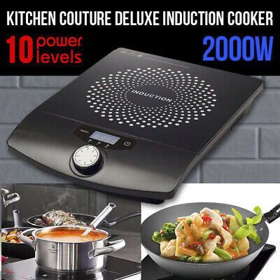 Portable 2000W Electric Induction Cooktop Stove Hotplate Kitchen Cooker