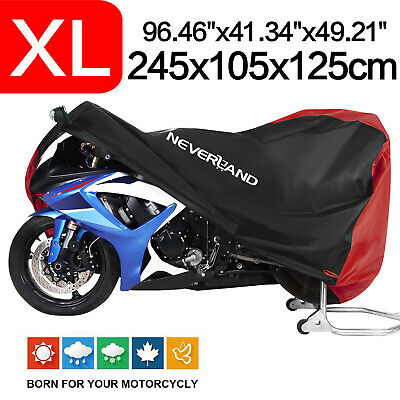 Motorcycle Cover XL 210D Waterproof Red&Black Fit For Harley Road Touring Street