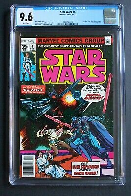 STAR WARS #6 Luke vs DARTH VADER 1st Print 1977 1st DAVE STEVENS Marvel CGC 9.6