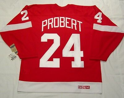 BOB PROBERT size Medium - Detroit Red Wings CCM 550 VINTAGE series Hockey Jersey