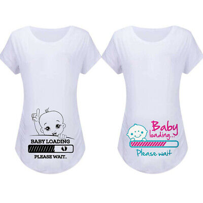 Women Maternity Summer Short Sleeve Tops Cartoon Baby Tee Shirt Pregnancy Blouse