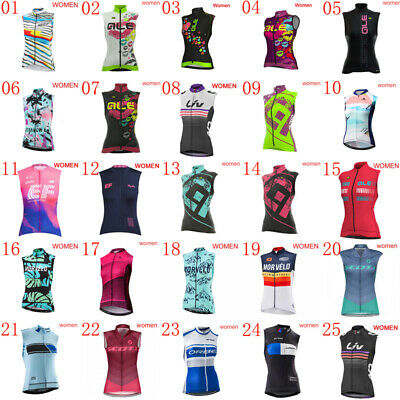 2019 women team bike cycling sleeveless Jersey bicycle vest summer Cycle clothes