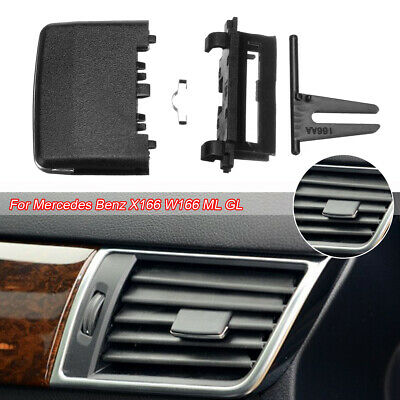 Black A//C Air Vent Outlet Tab Clip Replace kit for Mercedes Benz W204 C-Class