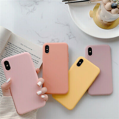 Candy Solid Color Silicone Phone Case For iPhone 11 XS MAX XR X 7 8 6 Plus Cover