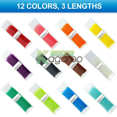 100-1000PCS 2.5*100mm Self-locking Nylon Plastic Cable Ties Zip Ties 150mm 200mm