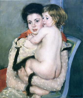 """high quality oil painting handpainted on canvas"""" a woman and her child"""""""