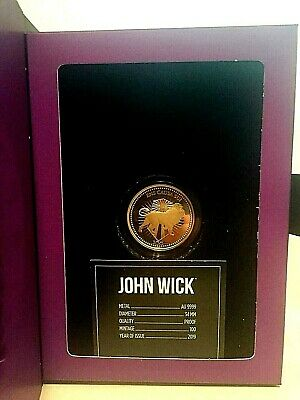 John Wick 24k Proof 1 oz Gold Continental Coin with Display Box & COA