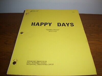 "Very Rare Original 1975 ""Happy Days"" Ron Howard Script Used On The Tv Show!"