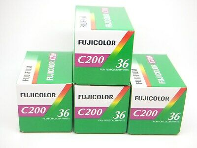 4x FUJI FUJICOLOR C200 35mm 36exp CHEAP COLOR PRINT FILM by 1st CLASS ROYAL MAIL