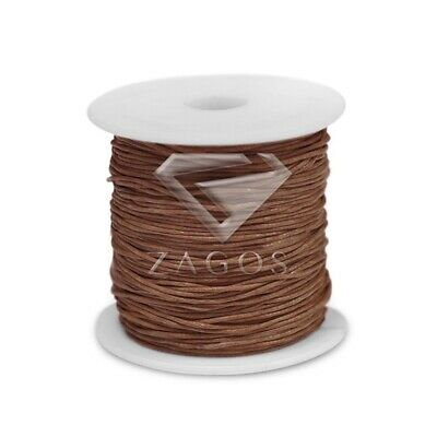 80m Waxed Cotton Cord Wholesale Jewellery Making Beading Thread Thong 1x1mm