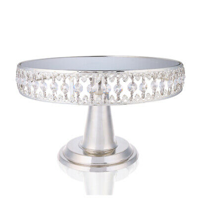 Wedding Crystal Cake Stands Mirror Top Cupcake Dessert Display Stand Party Gifts