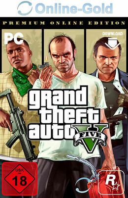 Grand Theft Auto V 5 Premium Online Edition - [Rockstar] PC USK 18+ GTA5 [EU/ES]
