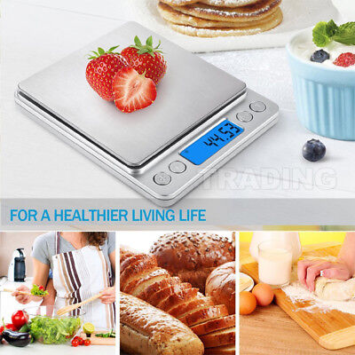 2019 0.01~500g Kitchen Food Scale Digital LCD Electronic Balance Weight Scales