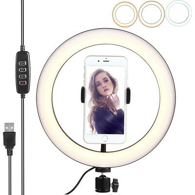 12 inch 26CM Dimmable LED Studio Camera Ring Light Photo Phone Video Light Lamp