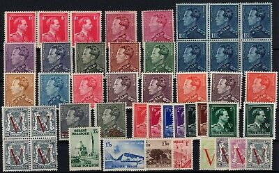 P117800/ Belgium - Lot 1936 - 1951 Mint Mnh / Mh 129 E