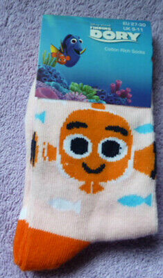Finding Dory  Socks Three Size 9-11 And Two Size12 - 2