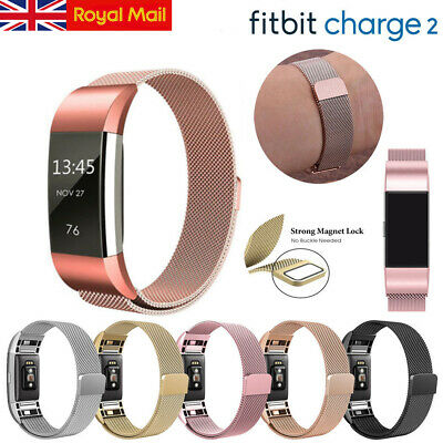For Fitbit Charge2 Replacement Strap Milanese Band Metal Stainless Steel Magnet