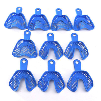 10pcs Dental Impression Trays Teeth Holder Denture Model Materials Oral Hygiene