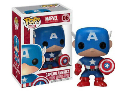 Funko Pop Marvel Exclusive Captain America Action Figure Doll Toy Civil War