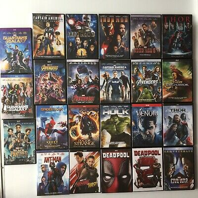 Pick 21 From Marvel DVD Lot Movie Avengers Collection Hulk Thor Iron Man Dr etc