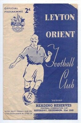 1949 Leyton Orient Reserves v Reading Reserves, Football Combination Cup match