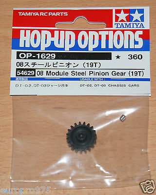 Tamiya 54629 08 Module Steel Pinion Gear (19T) Fighter Buggy/Mad Bull/DT02/DT03