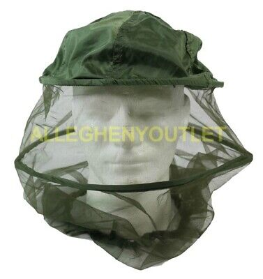 US Military Mosquito Insect Repellent Head Net Jungle Vietnam OD Green NWT