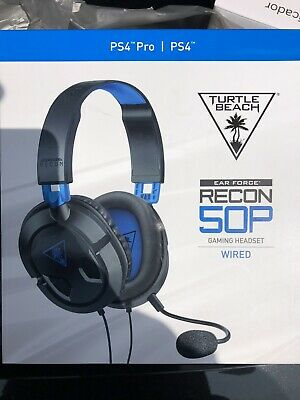 600017dfb06 Turtle Beach Ear Force Recon 50P Stereo Gaming Headset for Playstation 4 PS4  NEW