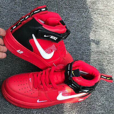 a3f680eded NIKE AIR FORCE 1 Mid Utility LV8 University Red Black AV3803-600 ...