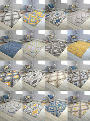 Thick Heavy Quality Soft Rugs Small Extra Large Shaggy Area Floor Mats Cheap UK