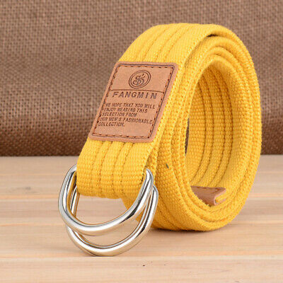 Mens Military Tactical Nylon Waistband Strap Outdoor Sports Canvas Army Web Belt
