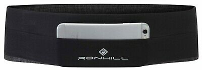 Ronhill Running Stretch Pocket Waistband. Black/Charcoal in 3 sizes.