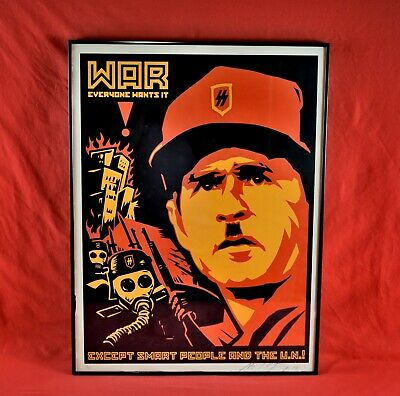 Shepard Fairey Anti-Bush Screen Print Signed Numbered 161/200 Framed
